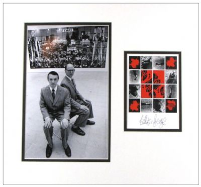 Gilbert & George Autograph Signed Display For Sale